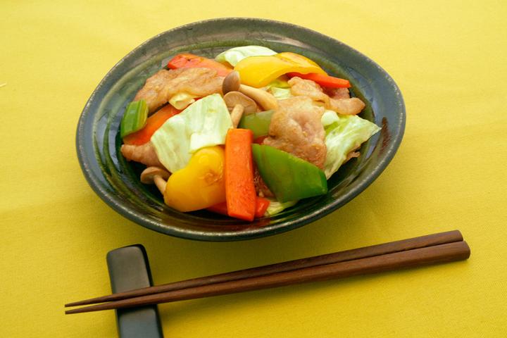 オイスターソース風味の肉野菜炒め